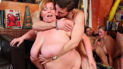 The drunken fat chicks get laid at this party and their bodies love every inch of big cock meat